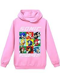 Silver Basic Tamaño Unisex para Niños Sonic The Hedgehog Sudadera con Capucha Sudadera Sonic Adventure Cosplay Sonic Ropa para Niños y Niñas Adolescentes