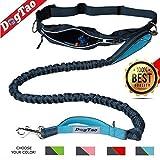 DogTao Joggingleine mit Laufgürtel für Mittelgroße und Große Hunde – Premium Jogging Hundeleine Elastisch, Reflektierend, Wasserabweisend