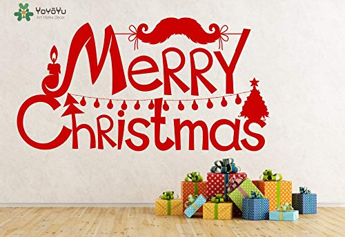 Frohe Weihnachten Wandtattoo Abnehmbare Vinilos Decorativos Paredes Wandaufkleber Fenster Tür Decor Art Moderne D 80x42 cm ()
