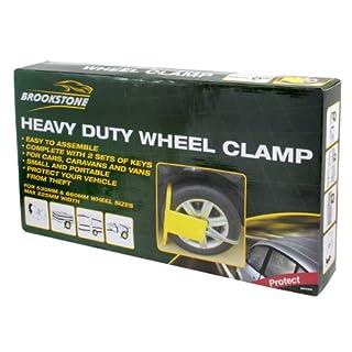 Brookstone BR360085 Protect Heavy Duty Wheel Clamp