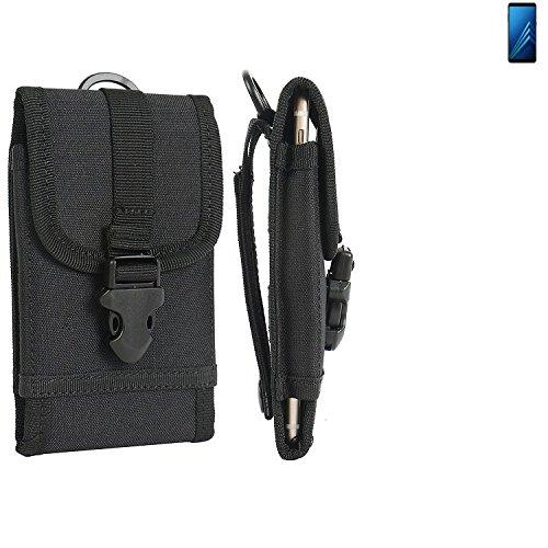 K-S-Trade Handyhülle für Samsung Galaxy A8+ (2018) Duos Gürteltasche Handytasche Gürtel Tasche Schutzhülle Robuste Handy Schutz Hülle Tasche Outdoor schwarz