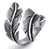 Best Aooaz Friends Unisex Rings - Aooaz Unisex Ring Stainless Steel Ring Silver Black Review