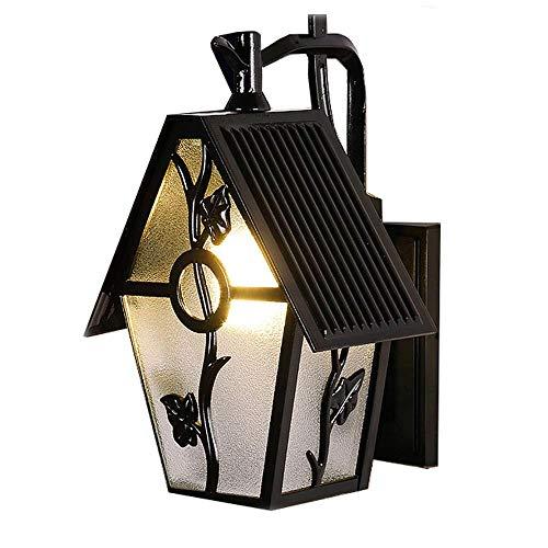 YWAWJ Wandleuchte im Freien wasserdicht im europäischen Stil Balkon Laterne Lampe Gemeinschaft Villa Garten Landschaft führte Außenwand Hängelampe -