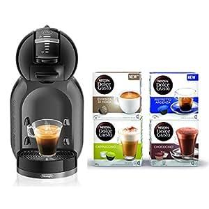 NESCAFÉ DOLCE GUSTO MINI ME EDG305.BG con 64 capsule in omaggio Macchina per Caffè Espresso e altre bevande automatica black&grey De'Longhi