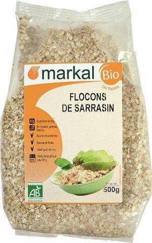 Copos de Trigo Sarraceno Bio - Copos de Trigo Sarraceno orgánica sin gluten | 500g | Markal