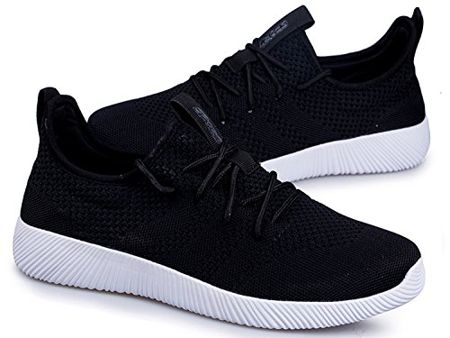 Uomo Donna Scarpe da Ginnastica Corsa Sportive Running Sneakers Fitness Interior Casual all'Aperto Nero