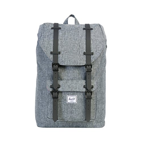 Herschel Supply Co. Rucksack Little America mid-volume, Raven Crosshatch/Black Rubber (grau) - 10020-00919-OS