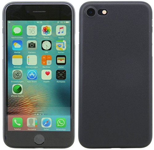0,2 mm ultra dünne Schutzhülle für iPhone 8 PLUS Hülle Etui Case Cover Hartschale dezent Hard Bumper in Pink @ Energmix Dunkel-Transparent