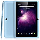 Dragon Touch Y88X Plus 7 Zoll Quadcore Android Tablet PC, Android 4.4 KitKat, 8GB NAND Flash, IPS Bildschirm, Bluetooth,3D Game unterstützt -Blau
