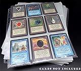 docsmagic.de 100 9-Pocket Pages - 11-Hole - 3-Ring Album - MTG - Yu-Gi-Oh! - Pokemon - Fogli per Raccoglitore di schede Pagine