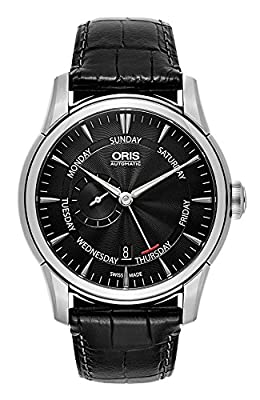 Oris Artelier Automatic Small Second Pointer Day Steel Mens Strap Watch Black Dial 745-7666-4054-LS