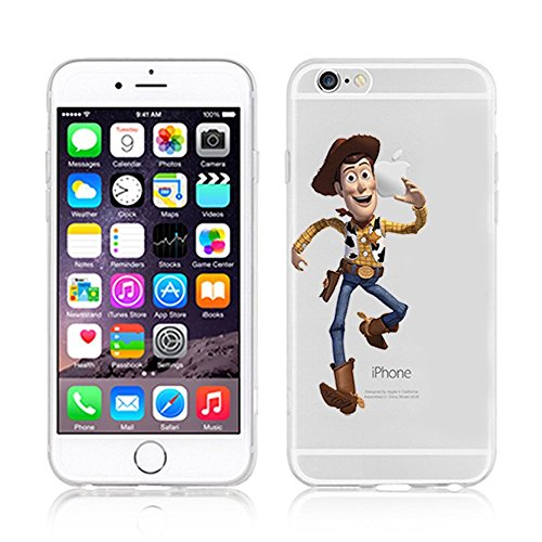 NEW DISNEY CARTOONS TRANSPARENT CLEAR TPU SOFT CASE FOR APPLE IPHONE 8 SUPERMAN WOODY