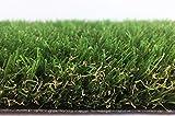 Premium Kunstrasen Madeira - 32 mm 2.250 g/m² | Rasenteppich nach Maß | strapazierfähig und pflegeleicht | indoor & outdoor geeignet | für Garten, Terrasse, Balkon und Camping, Farbe:Grün, Größe:400 x 150 cm