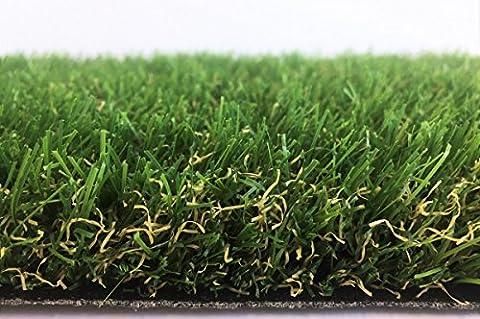 Premium Kunstrasen Madeira Grün / 32 mm 2.250 g/m² / Rasenteppich nach Maß / strapazierfähig, langlebig und pflegeleicht / indoor wie outdoor geeignet / für Garten, Terrasse, Balkon und Camping, Größe Auswählen:200 x 500