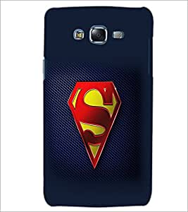 PrintDhaba Superman Logo D-2098 Back Case Cover for SAMSUNG GALAXY ON 5 (Multi-Coloured)