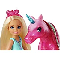NEW Barbie Dreamptopia Chelsea Doll and Unicorn Toy