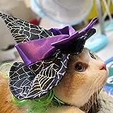 Víspera De Todos Los Santos Mascota Peluca Mago Sombrero Gato Cosplay Gracioso Disfraz Accesorios Ajustable Gorra Decorado con Arco para Perros/Gatitos / Puppy. Cacoffay