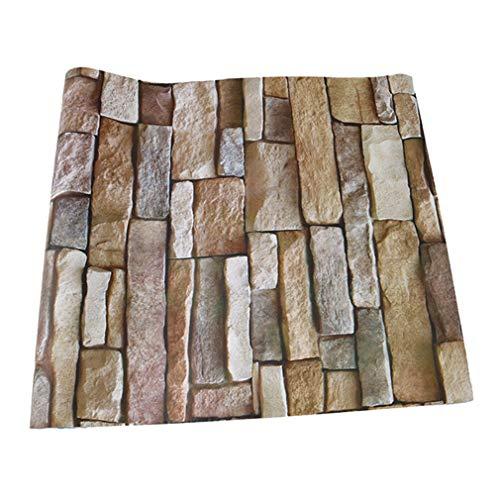 Wanweitong 3d carta da parati moderna murali muro, impermeabile autoadesivo rimovibile, adesivi pietra decorazione carta da parati a parete per la casa la cucina il soggiorno (2000cm, a1)