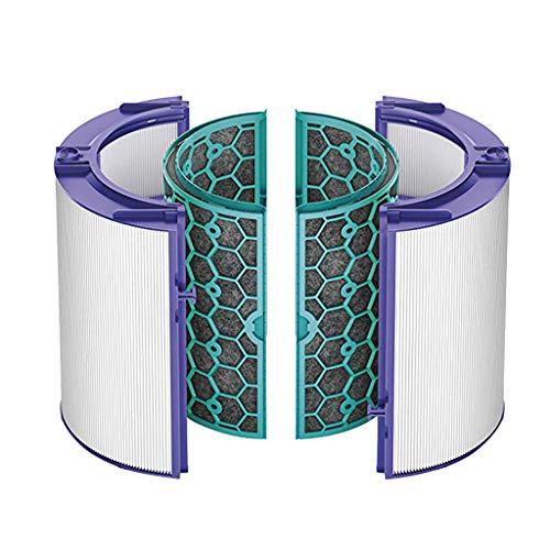 ToDIDAF Staubsauger-Zubehör, Ersatzteile für Kehrroboter, 1 HEPA-Filter + 1 Aktivkohlefilter für Dyson Ersatz TP04 / HP04 / DP04 / TP05 / HP05 Versiegeltes zweistufiges 360 ° Filtersystem