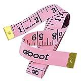 150cm 60 Pollici Nastro di Misura Misuratore Morbido per Cucire Sarto Sartoria Panno Righello, Pink