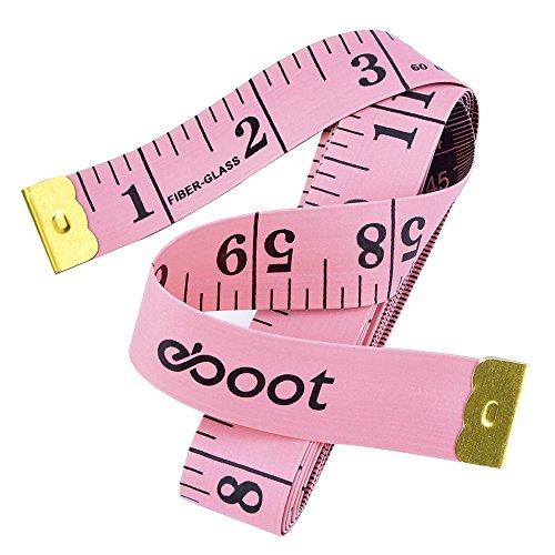 Couturière Tailor Ruler suivre de couleur noire à coudre Ruban à mesurer 152cm//60/'/'