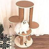 QNMM Katze-Möbel-mehrstufiger Kratzbaum des Baum-Baum-Tätigkeits-Turms Sisal verwendbar für Kätzchen, zum Sich und Unterhaltung zurückzuziehen