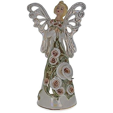 35,6cm Schutzengel Teelicht Porzellan Engel Figur (Porzellan Engel Figurine)