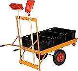 Nero Transport Hand Transport apparecchi, Via Carriola con 3contenitore in plastica con 3plastica Mulde Je capacità 70L, RAL 2000kommunalorange, 189x 83x 120cm, 1022550