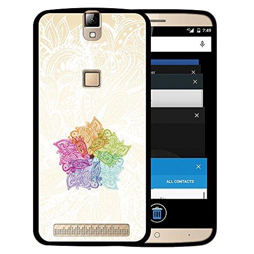 WoowCase Elephone P8000 Hülle, Handyhülle Silikon für [ Elephone P8000 ] Bunte Mandala Handytasche Handy Cover Case Schutzhülle Flexible TPU - Schwarz