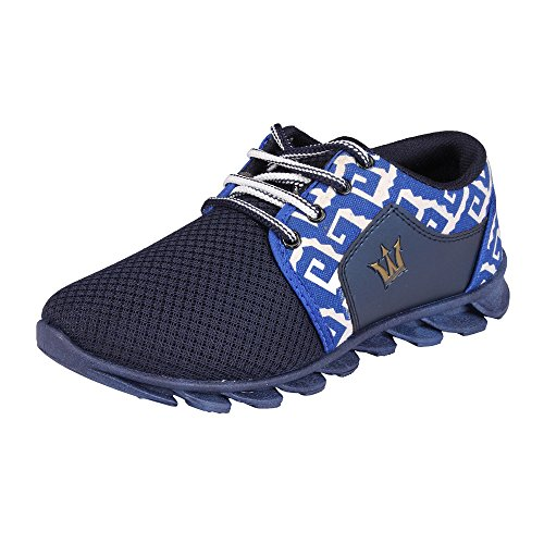 Maddy Men's Blue Synthetic Leather Sport Shoes Size- 9