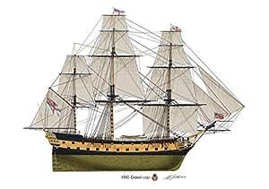 HMS Leopard 1790Profil Artwork, A4glänzend Print Sailing Kriegsschiff unterzeichnet
