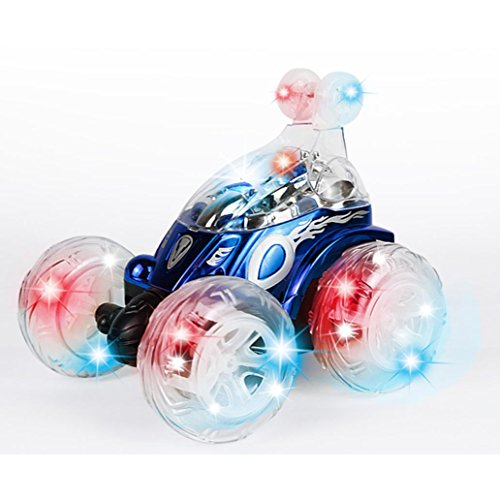 360° Spinning Musik Special Effects Fernbedienung Auto, mamum 360° Spinning und Flips mit Color Flash & Musik für Kinder Fernbedienung Truck Einheitsgröße blau Fernbedienung Große Autos Für Jungen