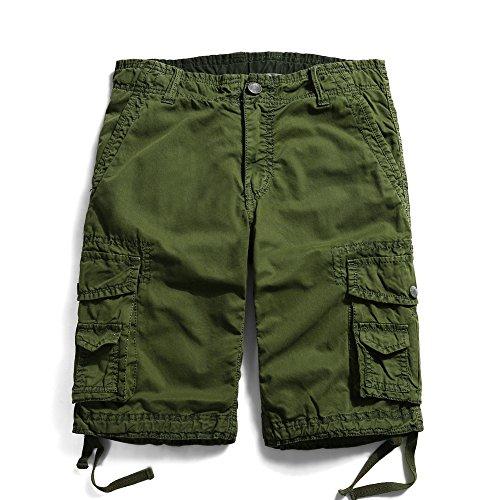 Men's Cotton Casual Multi Pockets Cargo Shorts