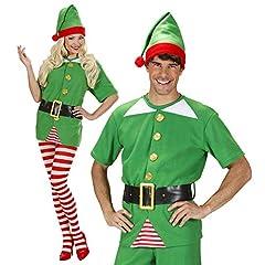 Idea Regalo - WIDMANN WDM75922 - Costume Per Adulti Elfo Aiutante di Babbo Natale, Verde, M