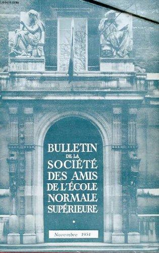 Bulletin de la societe des amis de l'ecole normale superieure - 35e annee - n° 71