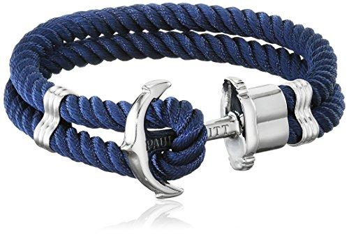 PAUL HEWITT Anker Armband Herren und Damen PHREP - Anker Armband Nylon (Marineblau), Segeltau Armband für Männer und Frauen mit Anker Schmuck aus Edelstahl (Silber)