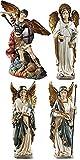 Archangel Saint St Michael Gabriel Uriel Raphael Figurines 4 Piece Statue SET Chapel Decoration by Religious Gifts