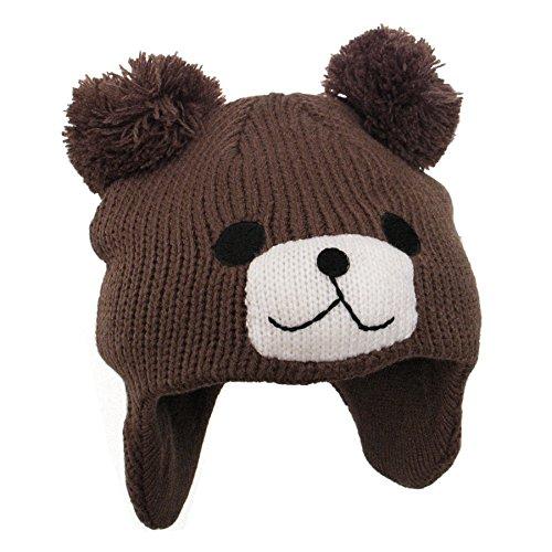 Preisvergleich Produktbild Kinder Strickmütze Mütze Baumwolle Wintermütze Bär muetze Beanie Kids Jersey Junge Mädchen