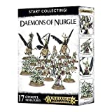 Games Workshop 99129915042 - Start Collecting Daemons of Nurgle - Warhammer 40000 - 17 Figuras (1 Herald de Nurgle, 3 Plague Drones, 3 Nurglings y 10 Plaguebearers de Nurgle - Miniaturas Citadel