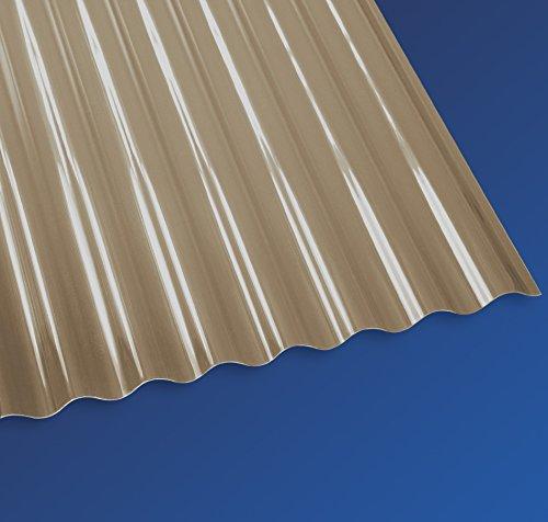 PVC Wellplatten Profilplatten Kleinwelle Sinus 32/9 bronce ohne Struktur 2000 x 750 mm