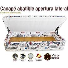Canapé tapizado apertura lateral 105x190cm
