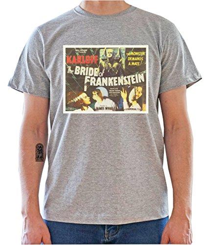 Frankenstein Vintage Movie Poster - Graphic Mens T-Shirt Gris