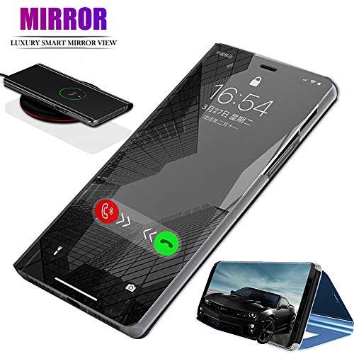 ANWEN Für Samsung Galaxy A50 Hülle,[Ständer] Luxury Spiegel Schutzhülle Clear View Mirror Case Protective Flip Für Samsung Galaxy A50 Case Protective Film