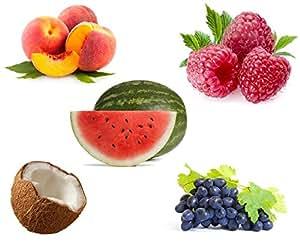 Breathin' E Shisha Flavour Refill Liquid Juice 10ml x 5 (Peach, Raspberry, Coconut, Grape, Watermelon)