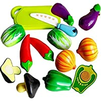 SRIHPE Realistic Sliceable Vegetables Play Cutting Toy Set with Velcro - 228C2