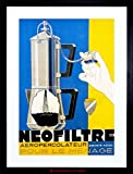 AD COFFEE PERCOLATOR FILTER MACHINE PUMP ACTION CAFFIENE FRAMED PRINT F97X2173