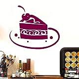 Un pastel de chocolate calcomanías de arte de pared para cocina restaurante moderno extraíble impermeable papel tapiz vinilo etiqueta de la pared para la decoración del hogar ~ 1 44 * 38 cm