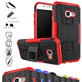 Galaxy A3 2017 Custodia,Mama Mouth Duro Shock Proof copertura Rugged Heavy Duty Antiurto in Piedi Custodia caso Case per Samsung Galaxy A3 2017 Smartphone,Rosso