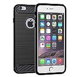 Elekin iPhone 6S Hülle Silikon, iPhone 6 Handyhülle für Apple iPhone 6 / 6S Case Cover(Schwarz)