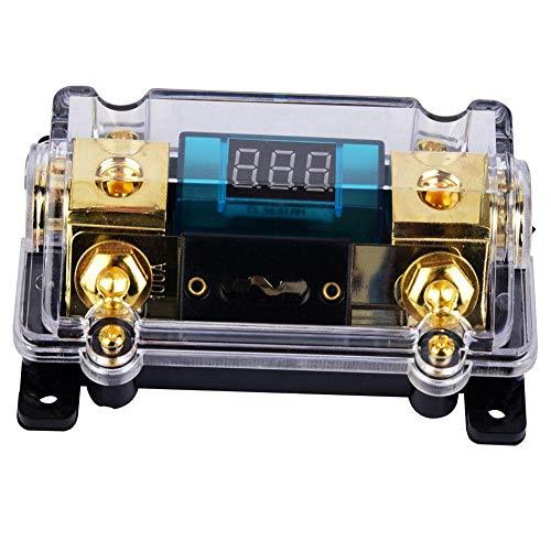 24V 100A Audio Sicherungshalter, Car Audio Digital Breaker Sicherungshalter Verteilerblock mit LCD-Display Wh-audio